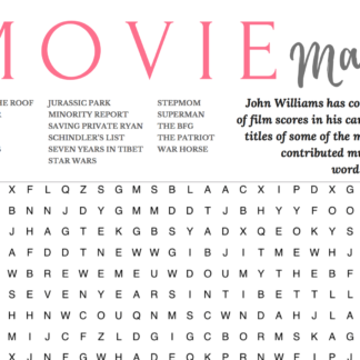 movie magic wordsearch