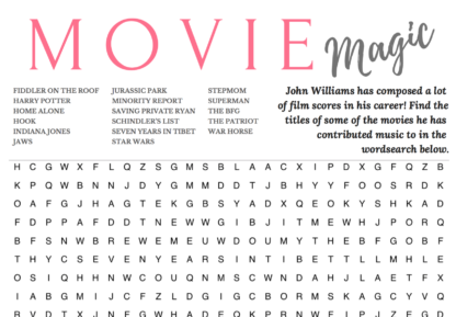 movie magic wordsearch